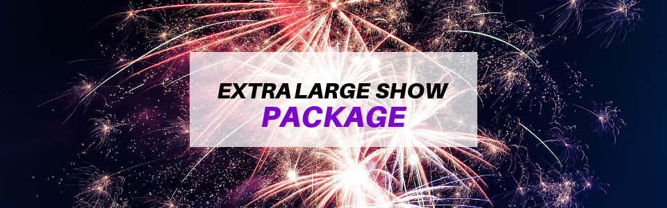 Extra large fireworks show